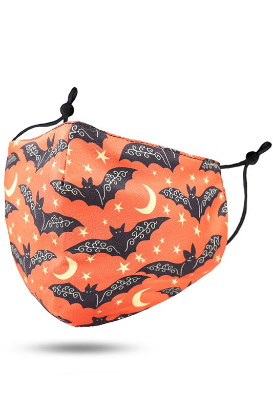 Adults- Halloween Bats Face Covering