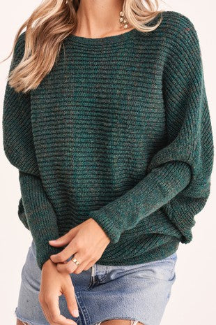 Hunter Green Heathered Sweater