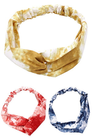 Tie Dye Print Twisted Headband
