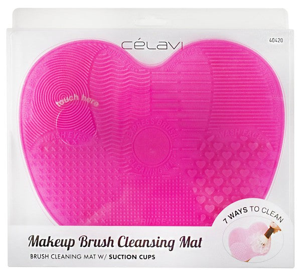 Pink Makeup Brush Cleansing Mat