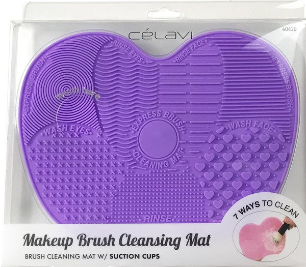 Purple Makeup Brush Cleansing Mat