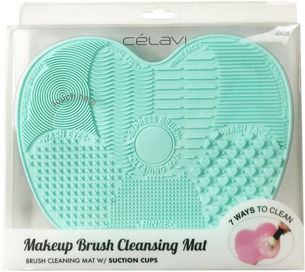 Turquoise Makeup Brush Cleansing Mat