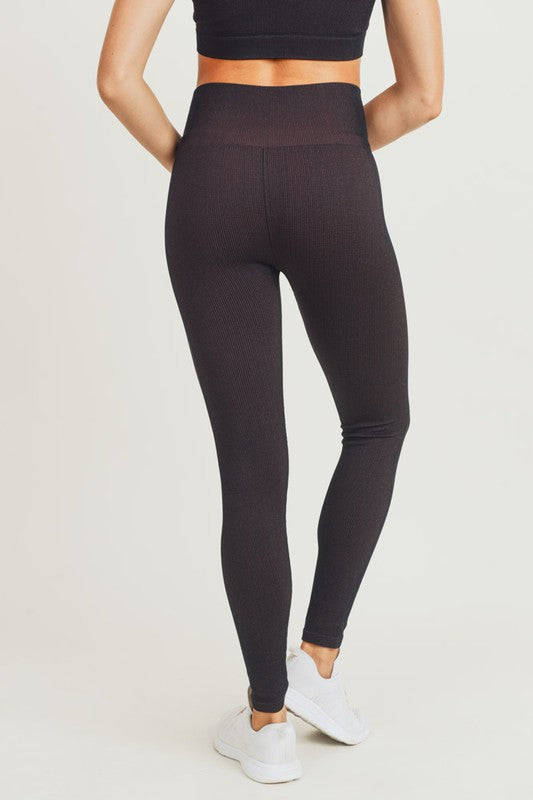 Black/Rust Athletic Leggings