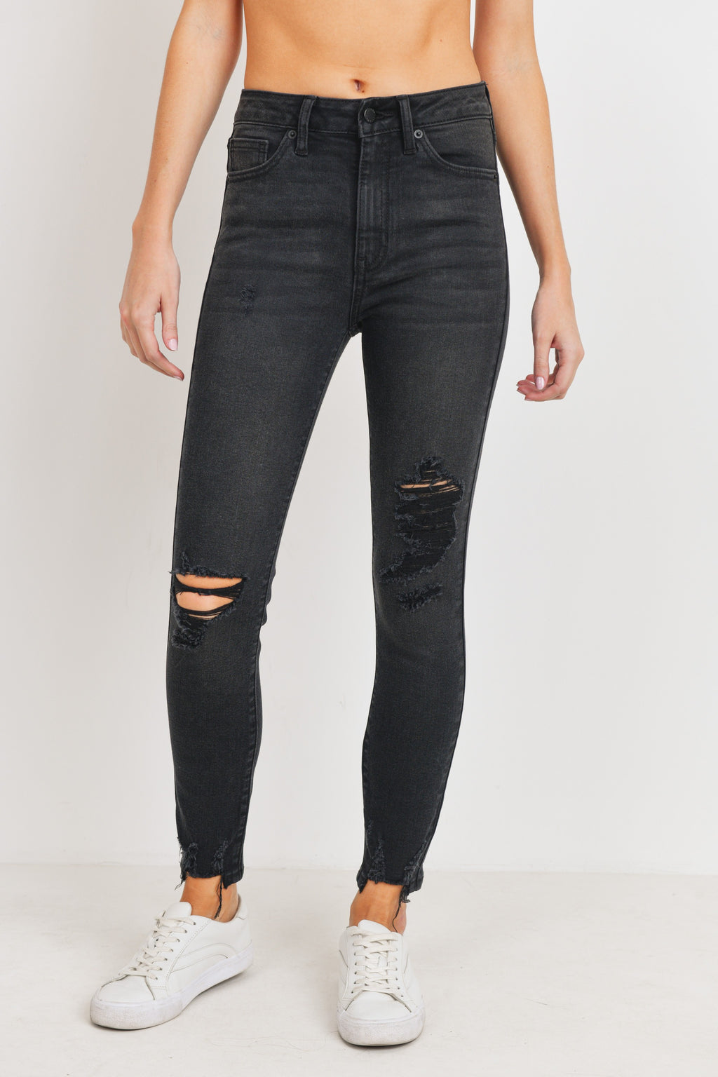 Just USA Black Distressed Denim Jeans