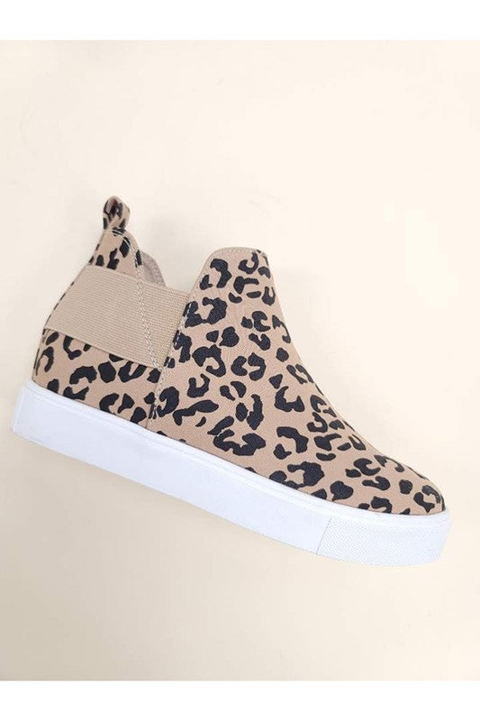 Leopard Tan Sneakers