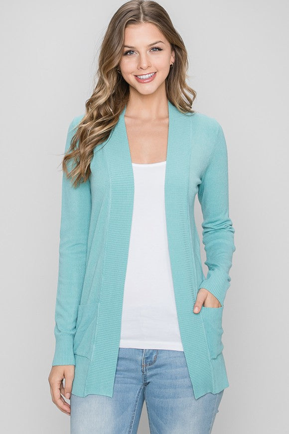 Favorite Cardigan- Aqua