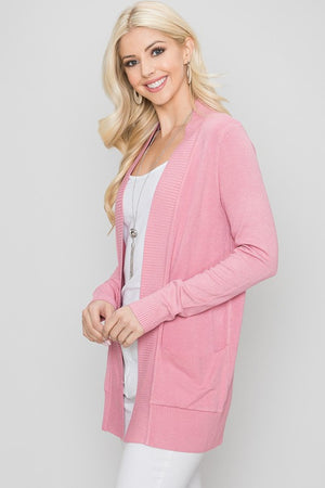 Favorite Cardigan- Pink