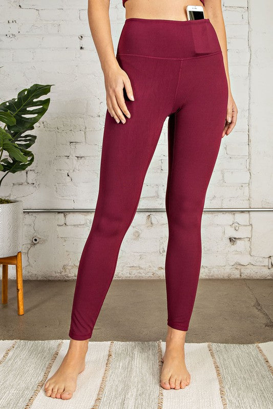 Burgundy Buttery Soft Leggings