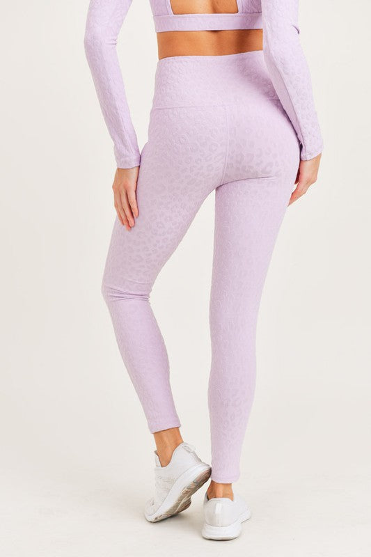 Periwinkle Leopard Print Athletic Leggings