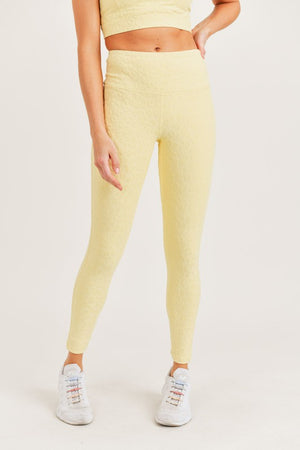 Lemonade Leopard Print Athletic Leggings