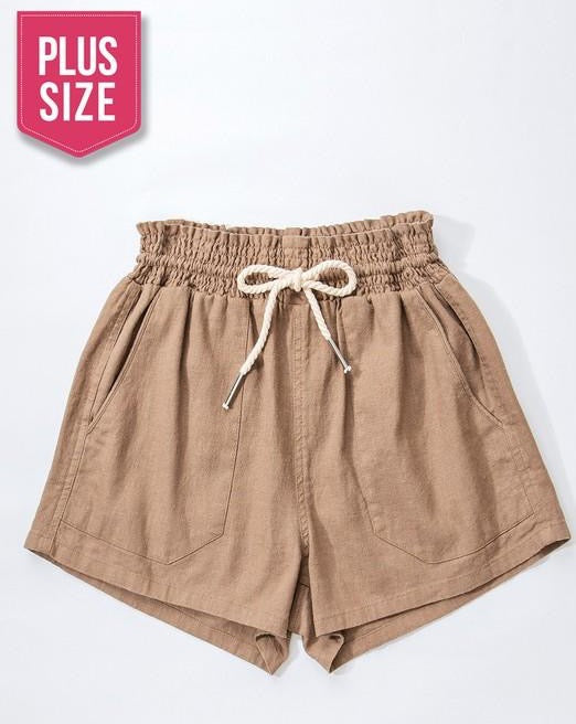 Rope Drawstring Shorts- Mocha