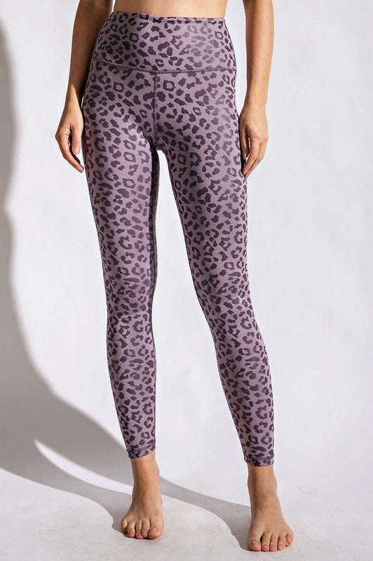 Dusty Purple Leopard Leggings