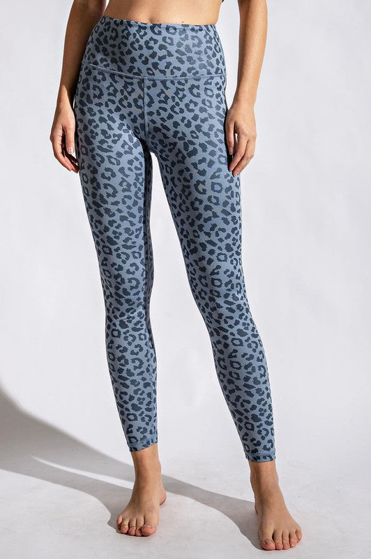 Chambray Leopard Leggings