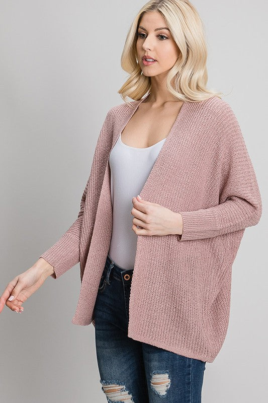 Favorite Knitted Cardigan- Mauve