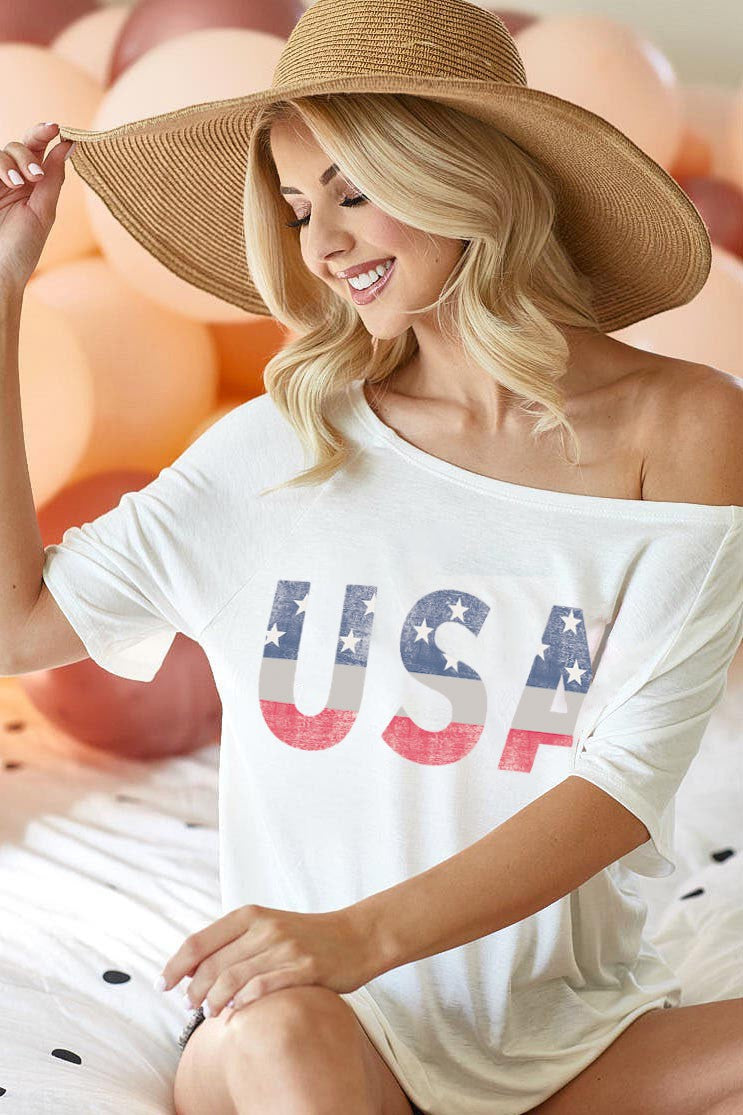 USA Graphic Top