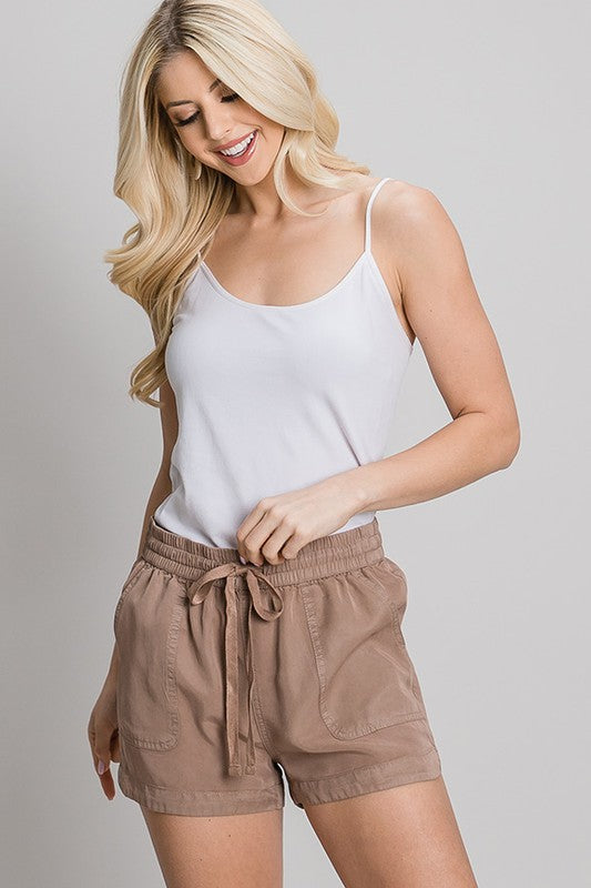 Favorite Mocha Drawstring Shorts