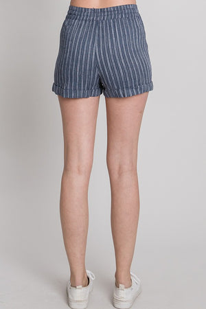 Favorite Navy Stripe Drawstring Shorts