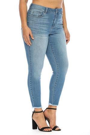 Cello Women Mid-Rise Crop Skinny Jeans