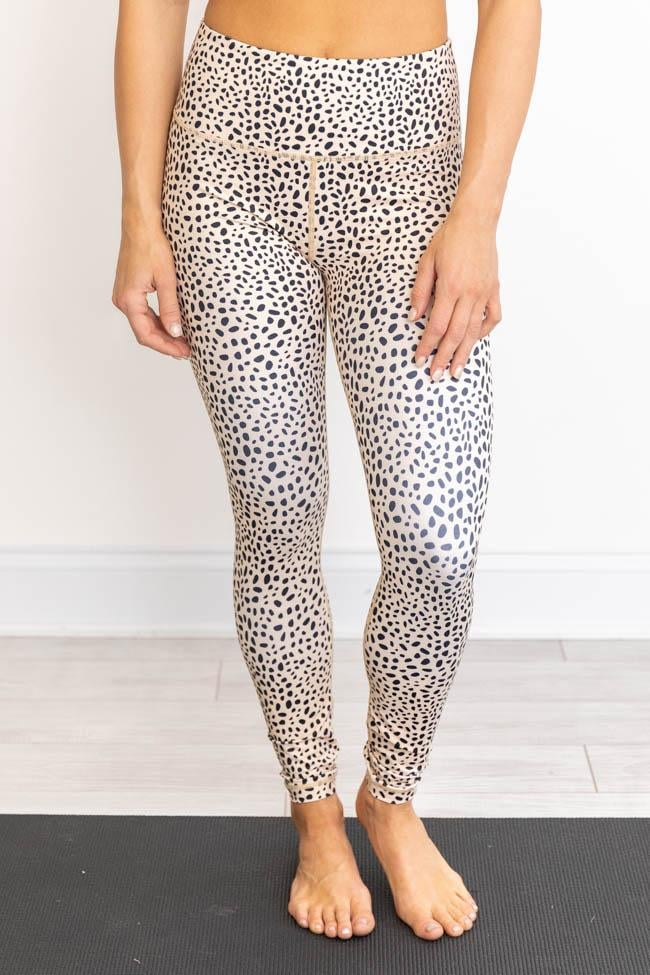 Leopard Flocked Athletic Leggings