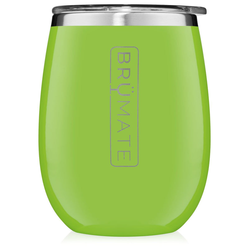 BruMate UNCORK'D XL 14 oz. Wine Tumbler- Electric Green