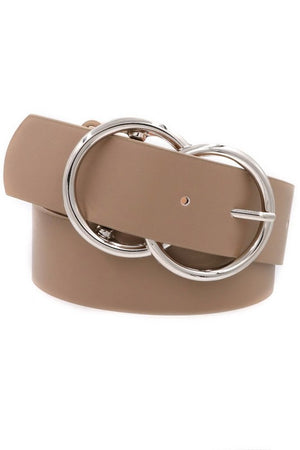 Leather Double Ring Belt