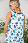 Colleen - Stripe & Floral Tank Top