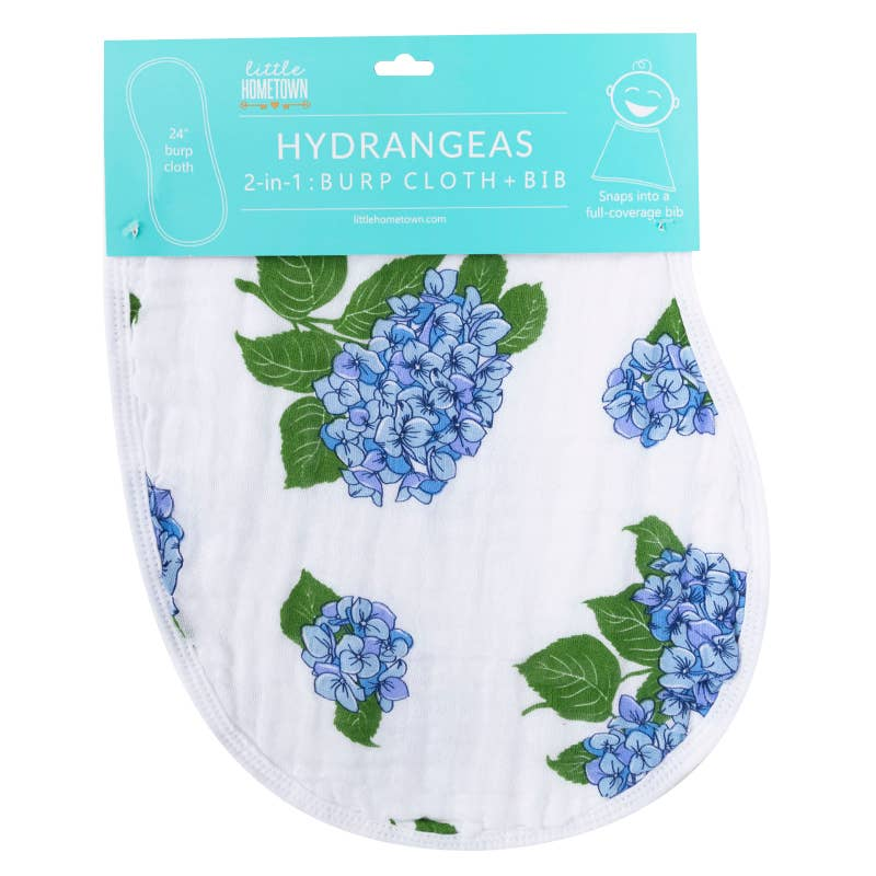 Hydrangeas Burp Cloth/Bib
