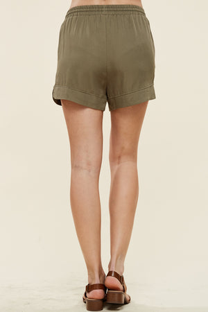 Olive Casual Shorts