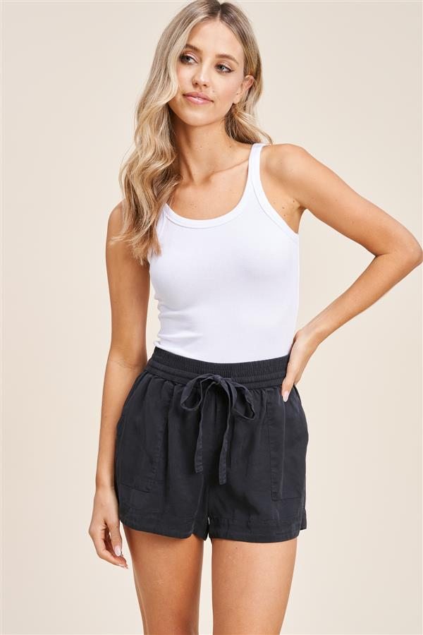 Favorite Charcoal Drawstring Shorts
