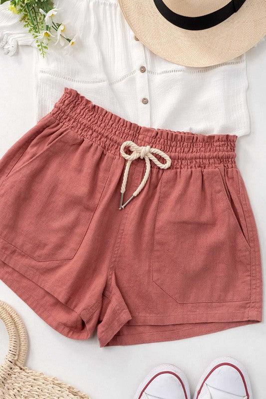 Edith - Rope Drawstring Shorts