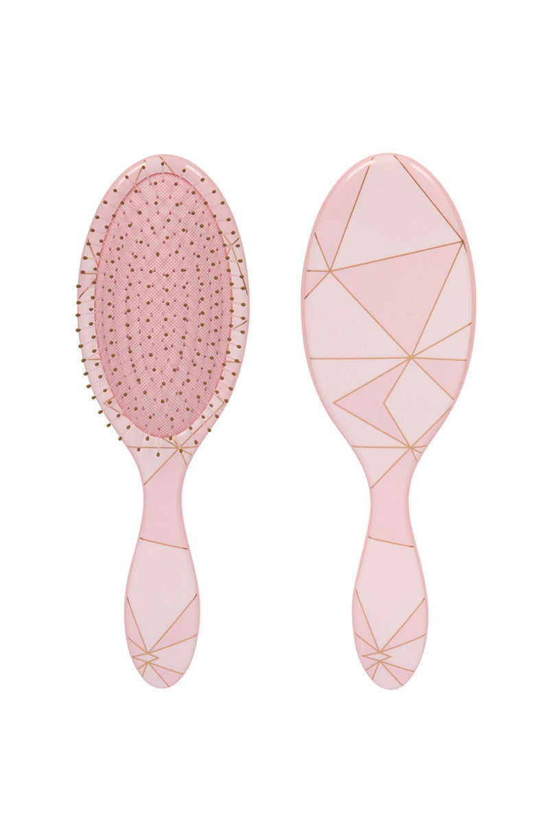 Pink Geometric Wet-N-Dry Detangling Brush