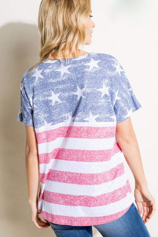 Graciela - American Flag Top