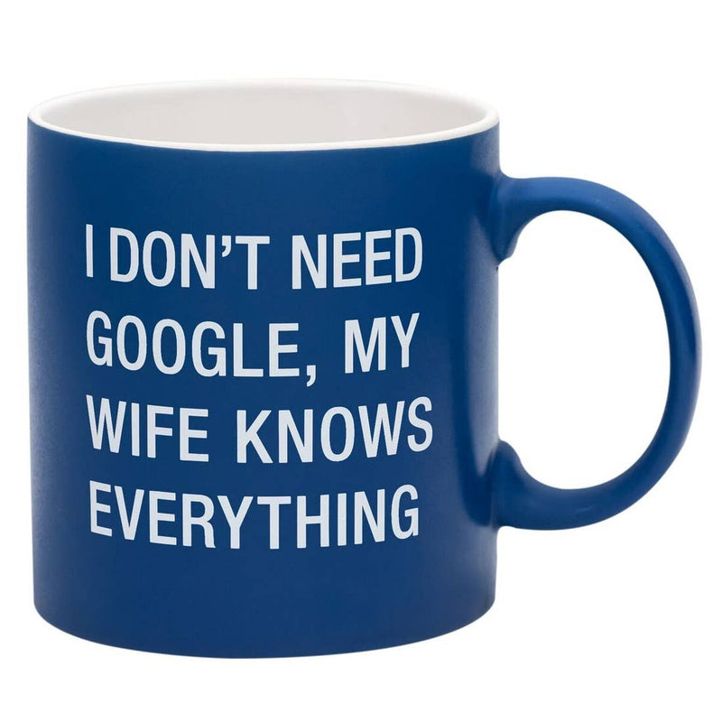 My Wife Knows Everything Stoneware Mug