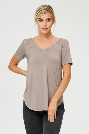 Basic V-Neck Tee 3- Multiple Colors