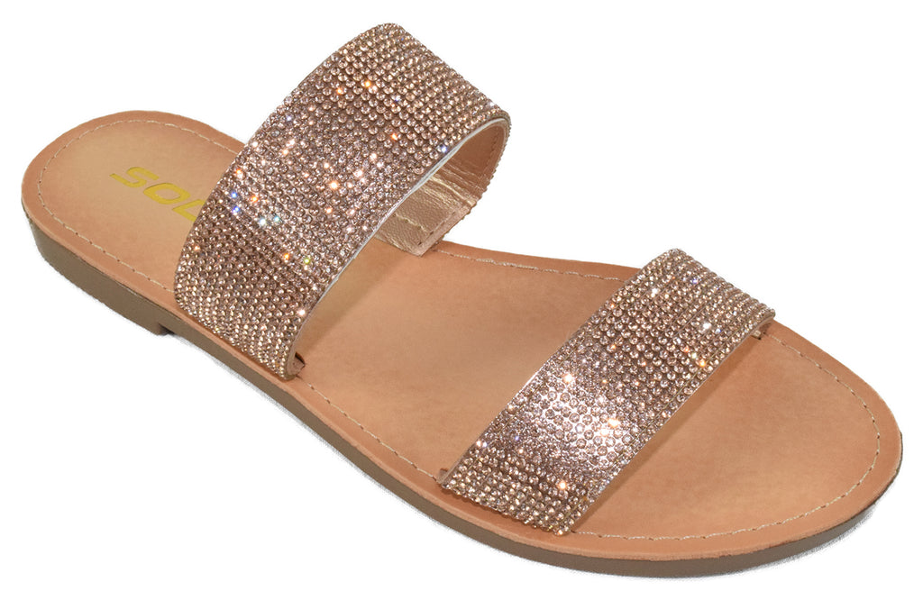 Among- Penny Rhinestone Sandals