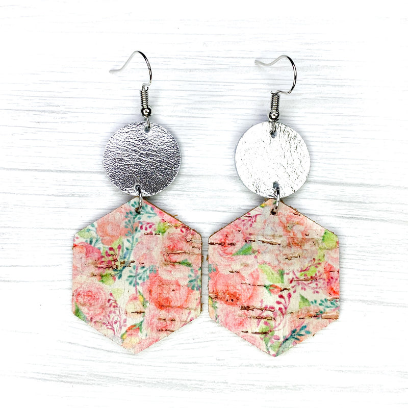 Savvy Bling Pink Floral Earrings