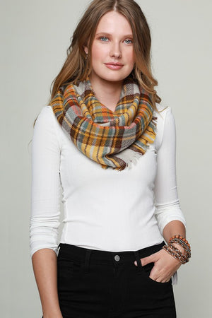 Infinity Scarves with Fringe