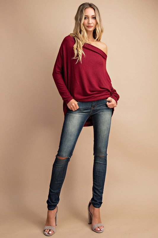 Ruby Dolman Off the Shoulder Top