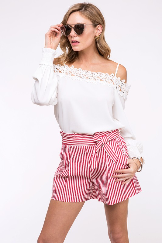 Red/White Stripe Shorts