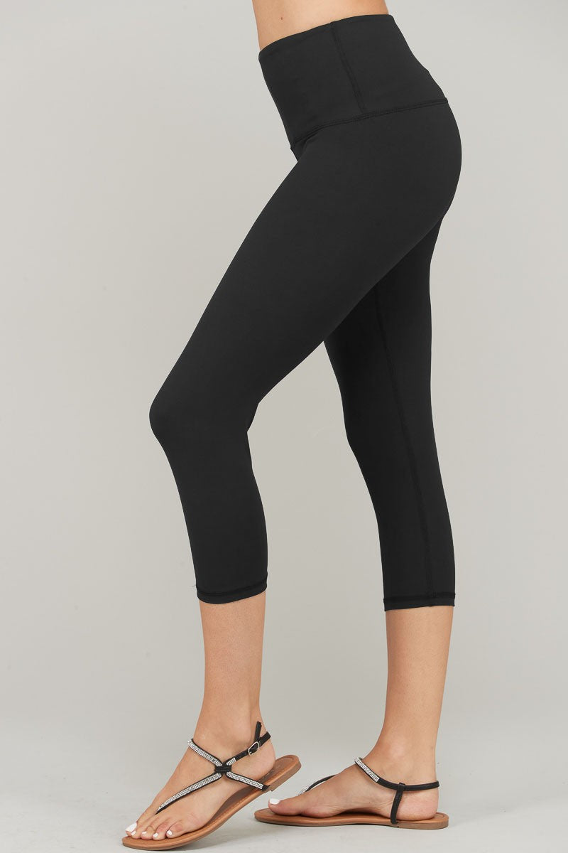 Buttery Soft Capri Yoga Legging-Black