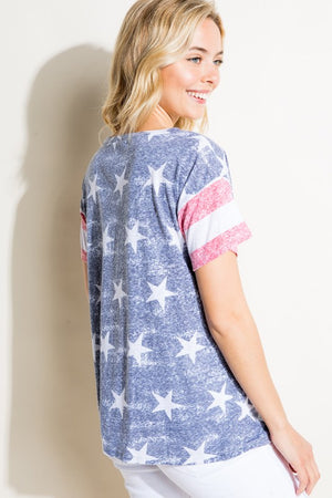 4th of July American Flag Top
