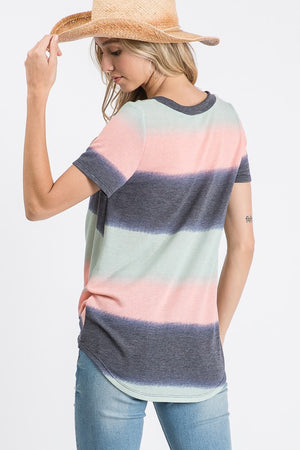 Lyndsey - Ombre V-neck top
