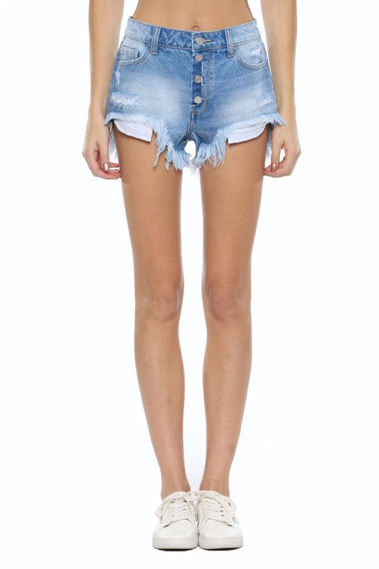 Cello High Rise 4-button Shorts