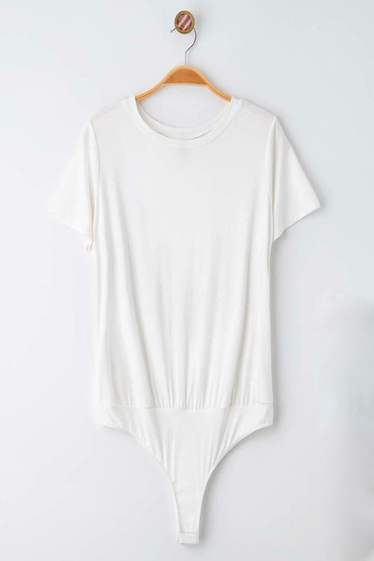 Ivory Short Sleeve Bodysuit