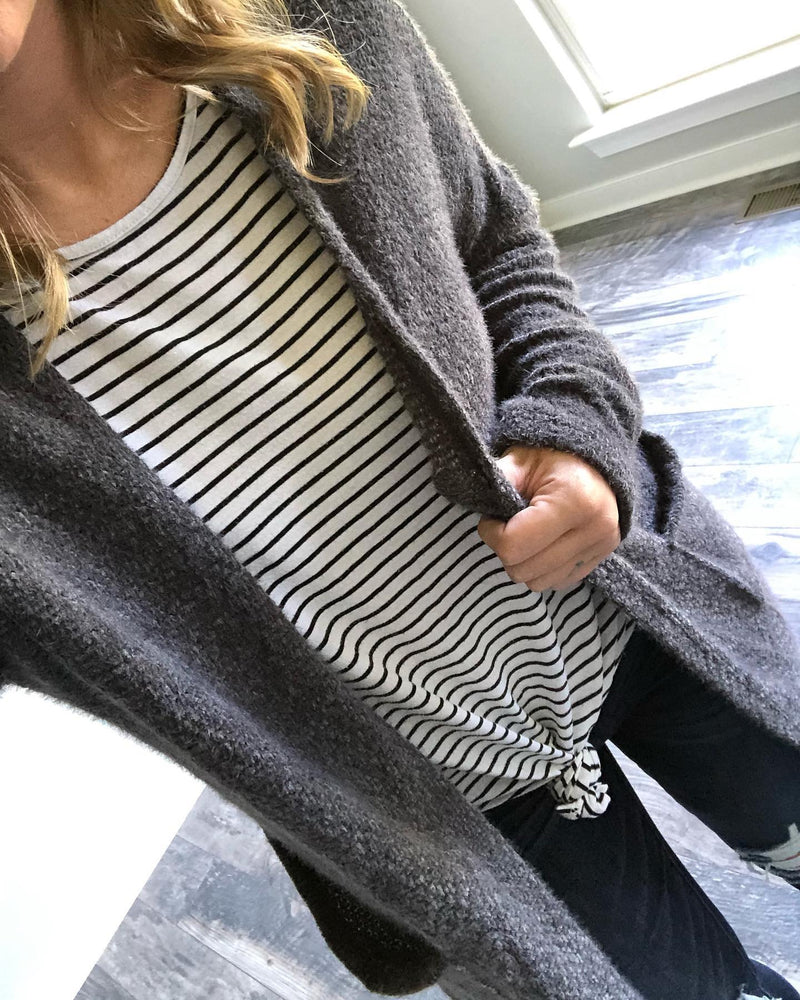 Fuzzy Grey Cardigan