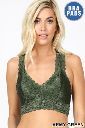 Army Green Lace Bralette
