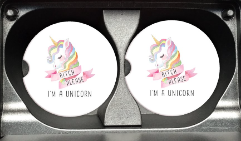 I'm A Unicorn Car Coaster