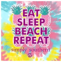 "Simply Southern ""Eat Sleep Beach Repeat"" Shirt"