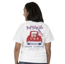 "Simply Southern ""God Bless the USA"" shirt"