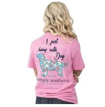 "Simply Southern ""Hang With My Dog"" shirt"